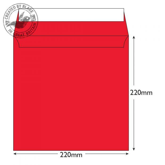 Creative Colour Pillar Box Red Peel and Seal Wallet 220x220mm Ref 506 [Pack 250] 10 Day Leadtime