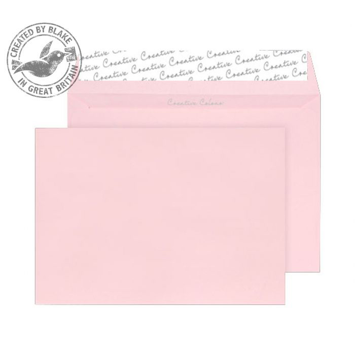Creative Colour Baby Pink Peel and Seal Wallet C4 229x324mm Ref 401 [Pack 250] 10 Day Leadtime