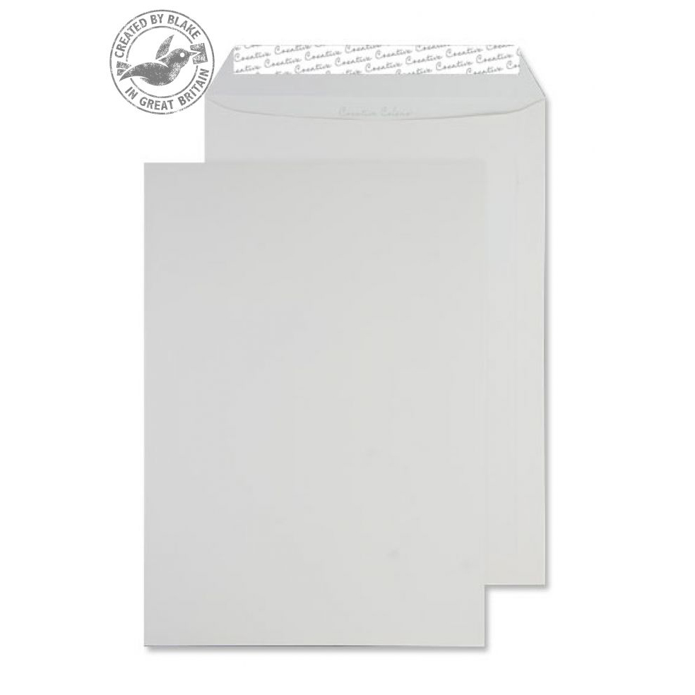 Creative Colour Milk White Peel and Seal Pocket C4 324x229mm Ref 951 [Pack 250] 10 Day Leadtime