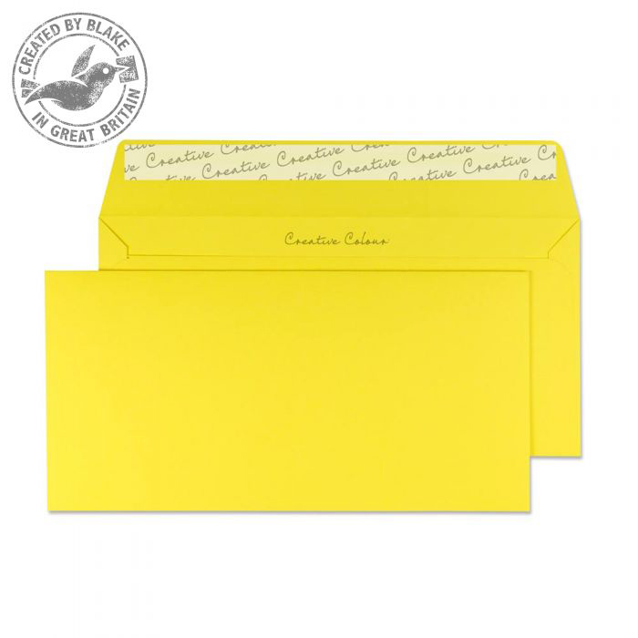 Creative Colour Banana Yellow P&S Wallet DL+ 114x229mm Ref 203 [Pack 500] *10 Day Leadtime*