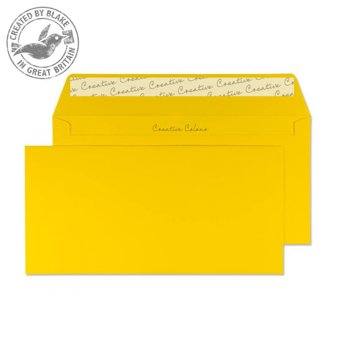 Creative Colour Egg Yellow Peel and Seal Wallet DL+ 114x229mm Ref 204 [Pack 500] 10 Day Leadtime