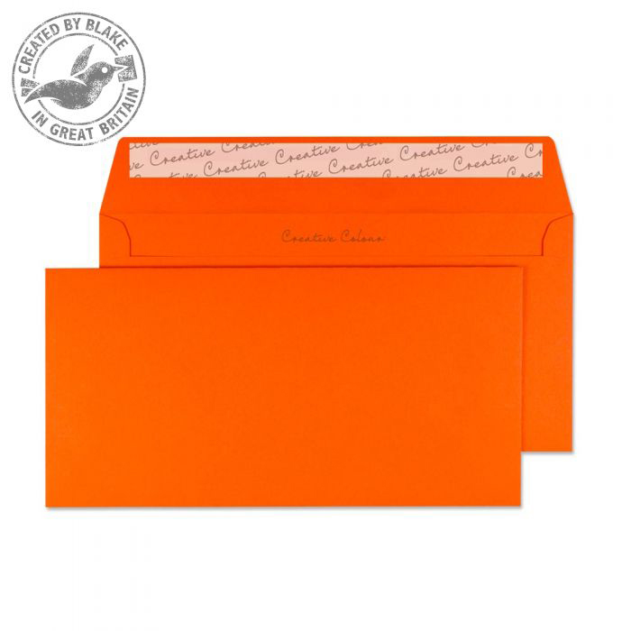 Creative Colour Pumpkin Orange P&S Wallet DL+ 114x229mm Ref 205 Pack 500 *10 Day Leadtime*