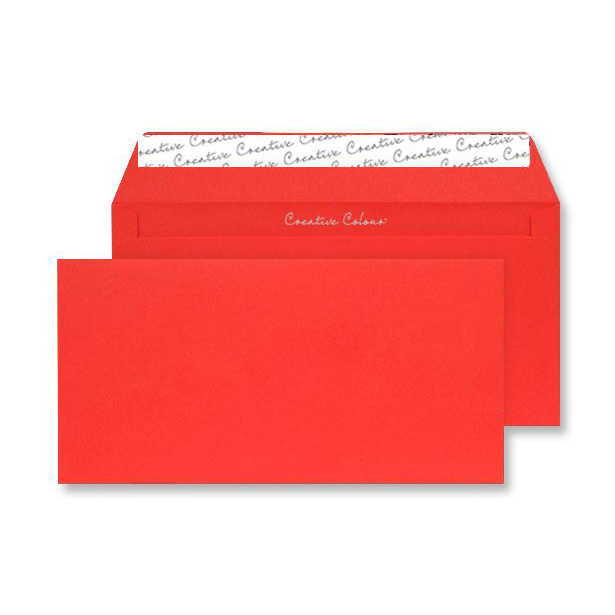 Creative Colour Pillar Box Red P&S Wallet DL+ 114x229mm Ref 206 [Pack 500] *10 Day Leadtime*