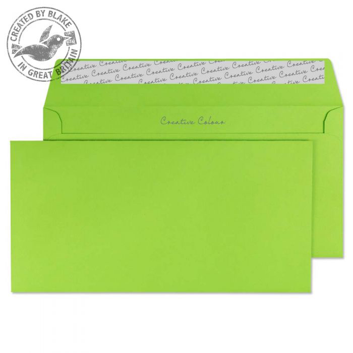 Creative Colour Lime Green Peel and Seal Wallet DL+ 114x229mm Ref 207 [Pack 500] *10 Day Leadtime*