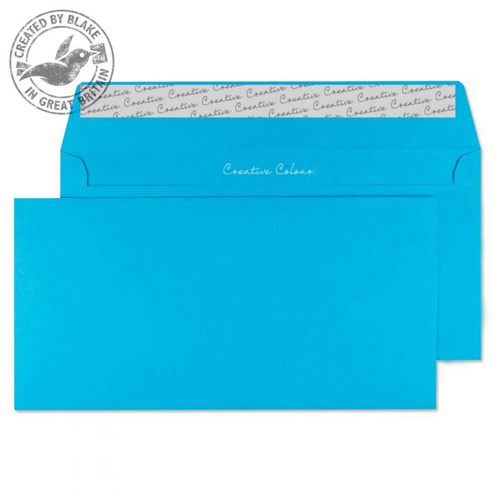 Creative Colour Caribbean Blue P&S Wallet DL+ 114x229mm Ref 210 Pack 500 *10 Day Leadtime*