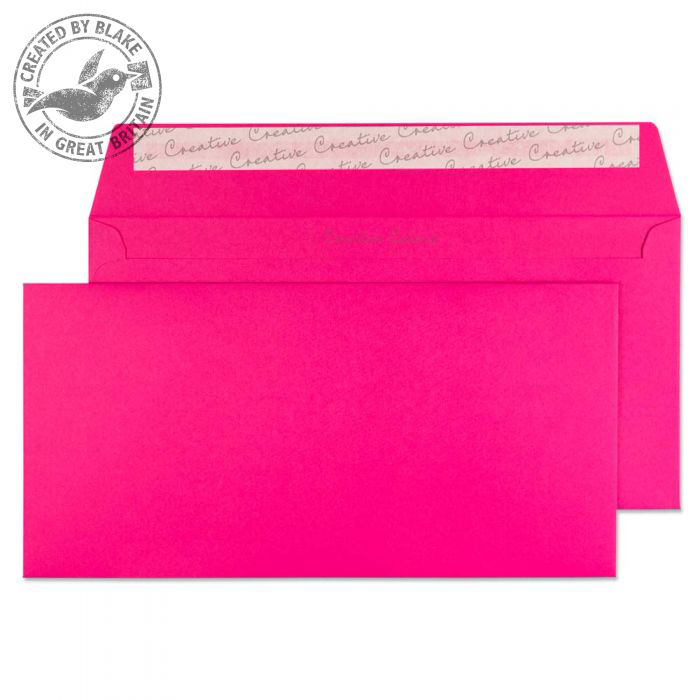 Creative Colour Wallet P&S Shocking Pink 120gsm DL+ 114x229mm Ref 242 [Pack 500] *10 Day Leadtime*