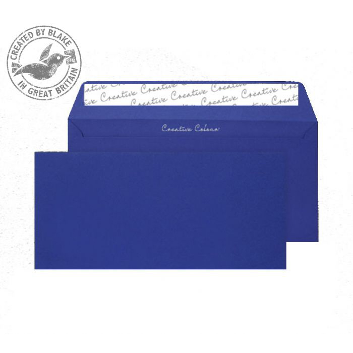 Creative Colour Wallet P&S Victory Blue 120gsm DL+ 114x229mm Ref 243 [Pack 500] 10 Day Leadtime