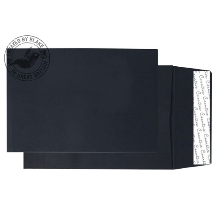 Creative Colour Jet Black P&S Gusset C5 229x162x25mm Ref 6140 Pack 125 *10 Day Leadtime*