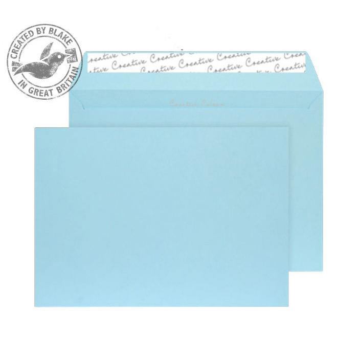 Creative Colour Cotton Blue Peel and Seal Wallet C5 162x229mm Ref 318 [Pack 500] *10 Day Leadtime*