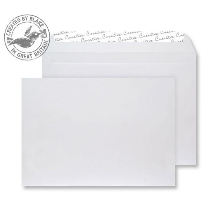 Creative Senses Wallet P&S White Velvet 140gsm C5 162x229mm Ref V641 [Pack 125] *10 Day Leadtime*