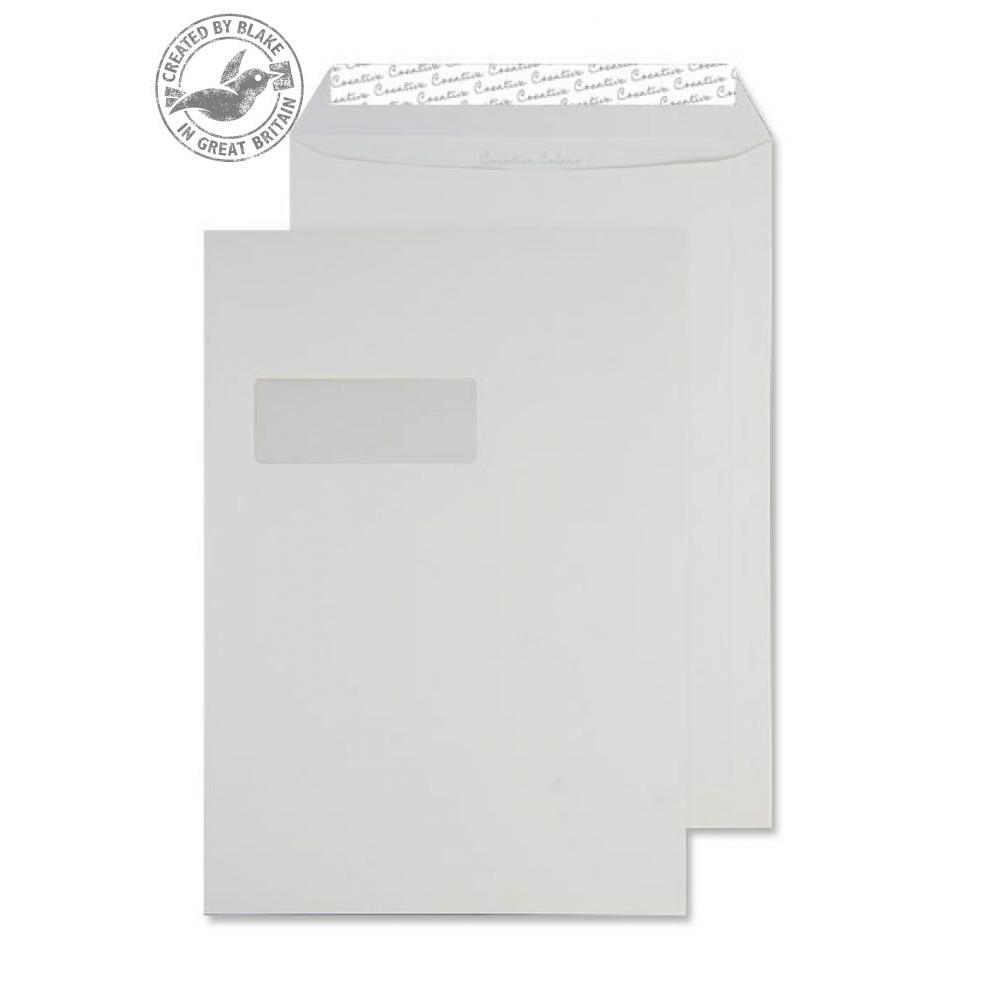 Creative Colour Pocket P&S Window Milk White 120gsm C4 324x229mm Ref 951W Pk 250 10 Day Leadtime