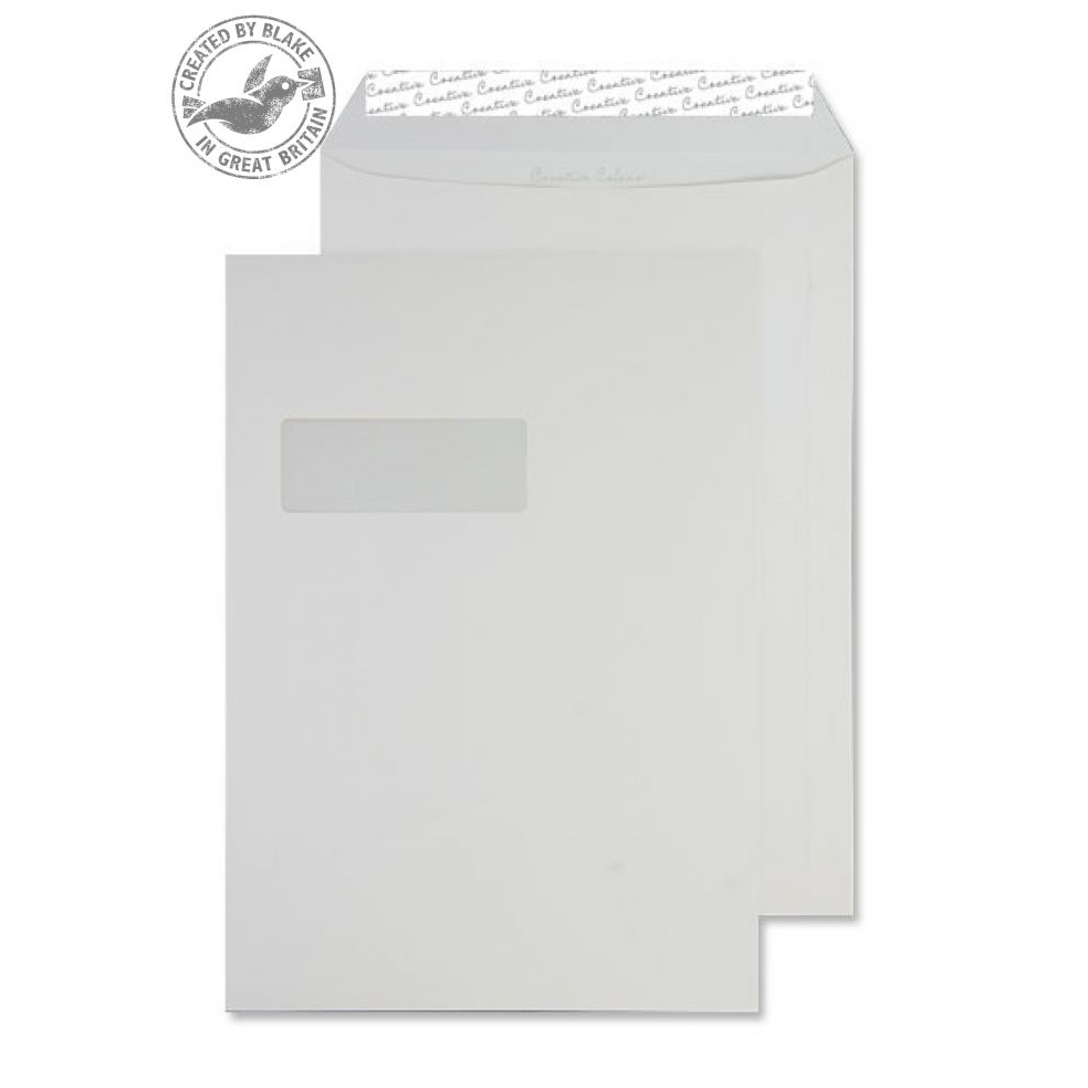 Creative Colour Pocket P&S Window Soft Ivory 120gsm C4 324x229mm Ref 952W Pk 250 10 Day Leadtime