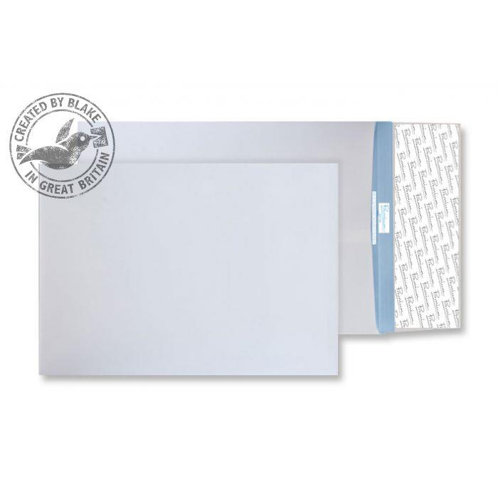 Gusset Envelopes Blake Premium Secure Gusset P&S White C4 324x229x25mm 125gsm Ref TR9900 Pk 100 *10 Day Leadtime*