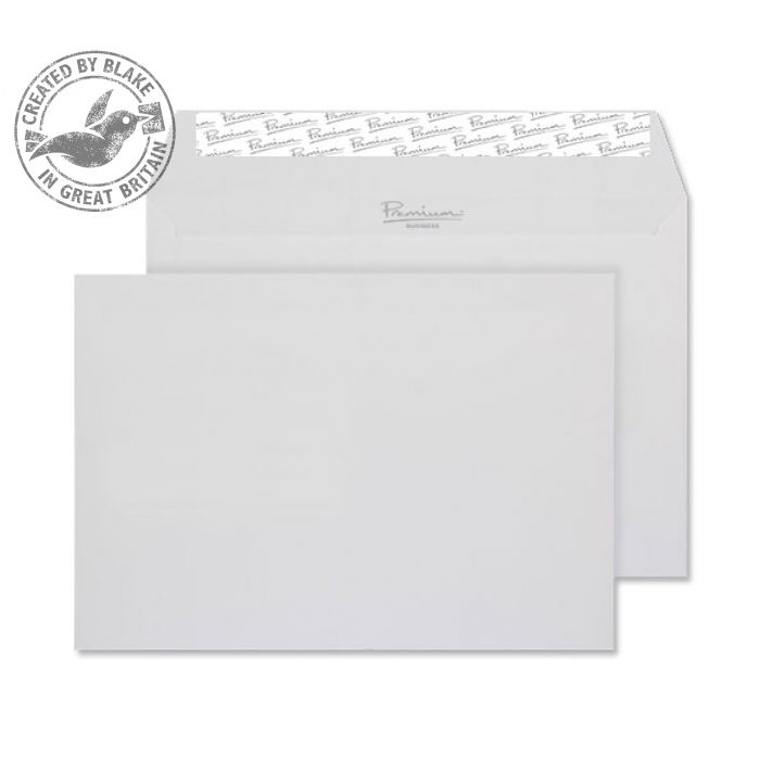 Blake Premium Business Wallet P&S Diamond White Laid C5 120gsm Ref 91707 Pk500 *10 Day Leadtime*