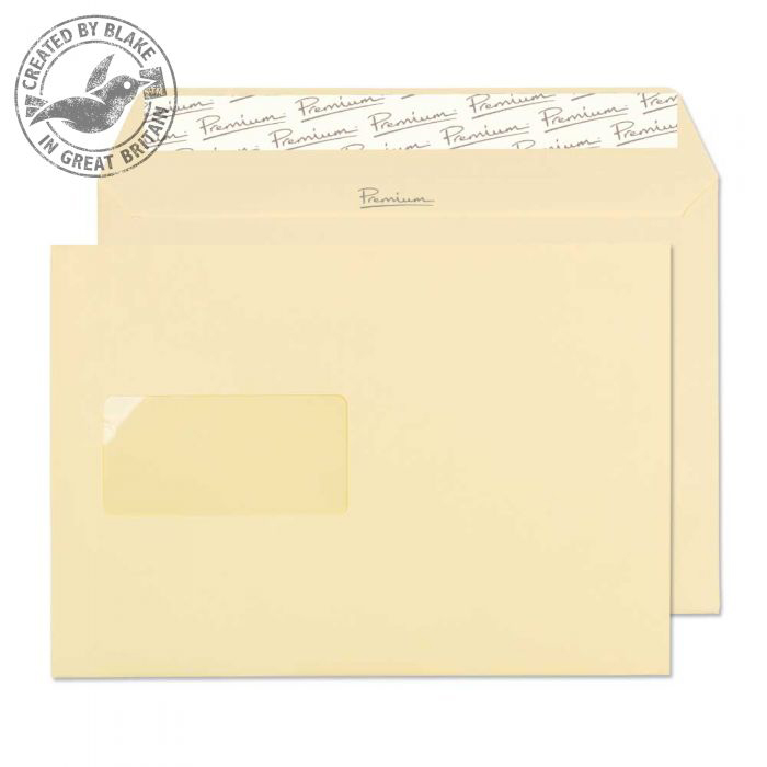 Blake Premium Business Wallet Wndw P&S Vellum Wove C5 120gsm Ref 51708 Pk500 *10 Day Leadtime*