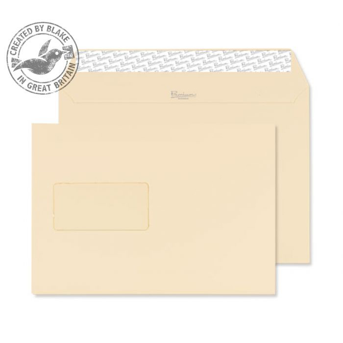 Blake Premium Business Wallet Wndw P&S Cream Wove C5 120gsm Ref 61708 Pk500 10 Day Leadtime