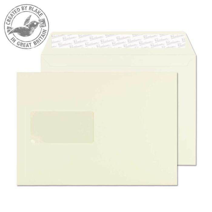 Blake Premium Business Wallet Wndw P&S Oyster Wove C5 120gsm Ref 71708 Pk500 10 Day Leadtime