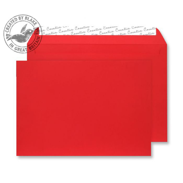 Creative Senses Wallet P&S Red Velvet C5 162x229mm 140gsm Ref V643 [Pack 125] *10 Day Leadtime*