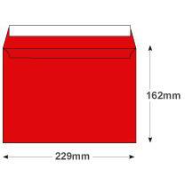 Creative Senses Wallet P&S Red Velvet C5 162x229mm 140gsm Ref V643 [Pack 125] 10 Day Leadtime