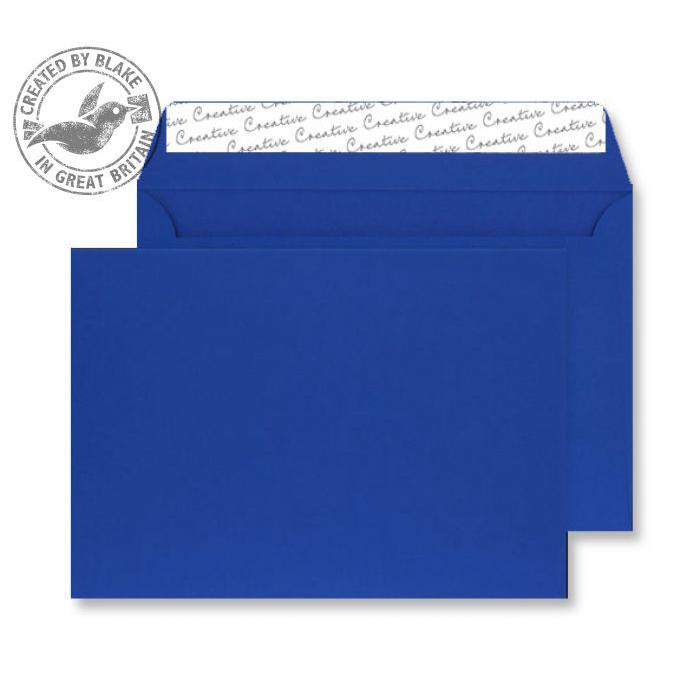 Creative Senses Wallet P&S Blue Velvet C5 162x229mm 140gsm Ref V644 [Pack 125] *10 Day Leadtime*