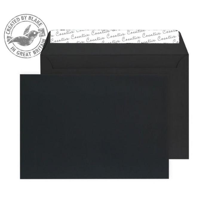 Creative Senses Wallet P&S Black Velvet C5 162x229mm 140gsm Ref V645 [Pack 125] *10 Day Leadtime*