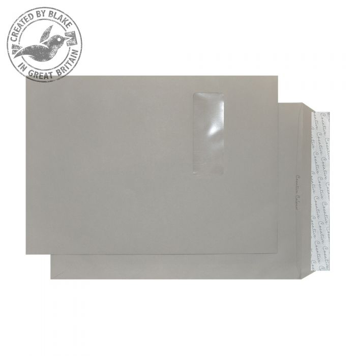 Creative Colour Pocket P&S Window Storm Grey 120gsm C4 324x229mm Ref 425W Pk 250 *10 Day Leadtime*
