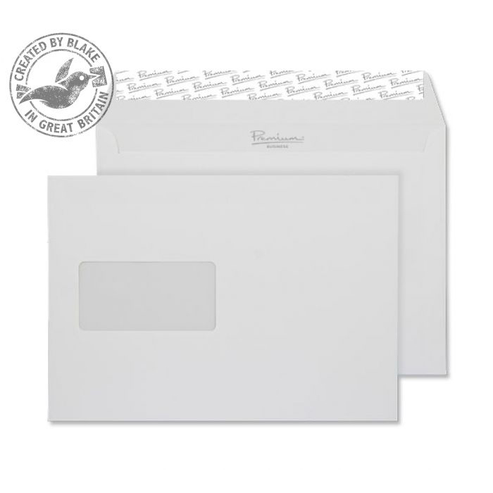 Blake Premium Bus Wallet Wndw P&S Diamond White Smooth C5 120gsm Ref 36708 Pk500 10 Day Leadtime