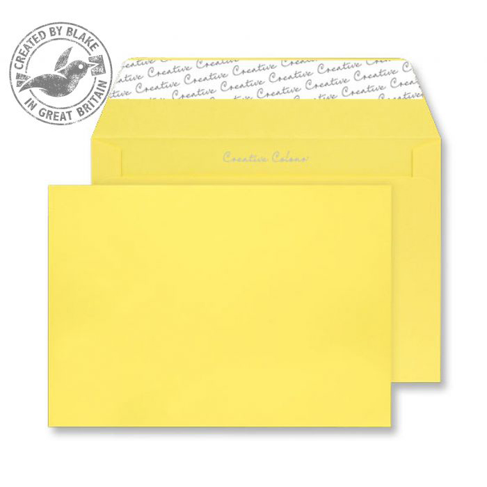 Internal Mail Creative Colour Banana Yellow P&S Wallet C4 229x324mm Ref 403 Pack 250 *10 Day Leadtime*