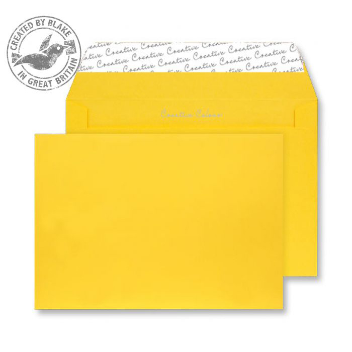 Creative Colour Egg Yellow Peel and Seal Wallet C4 229x324mm Ref 404 [Pack 250] 10 Day Leadtime