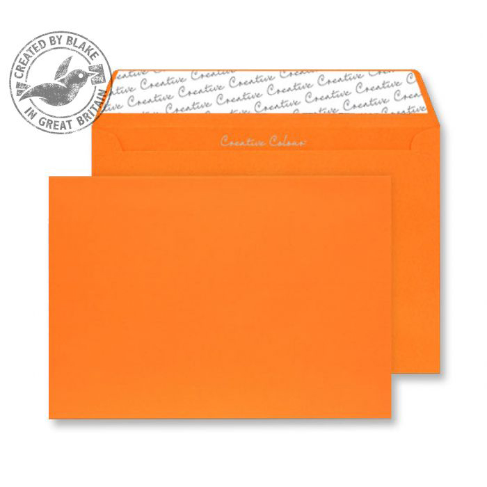 Creative Colour Pumpkin Orange P&S Wallet C4 229x324mm Ref 405 [Pack 250] *10 Day Leadtime*