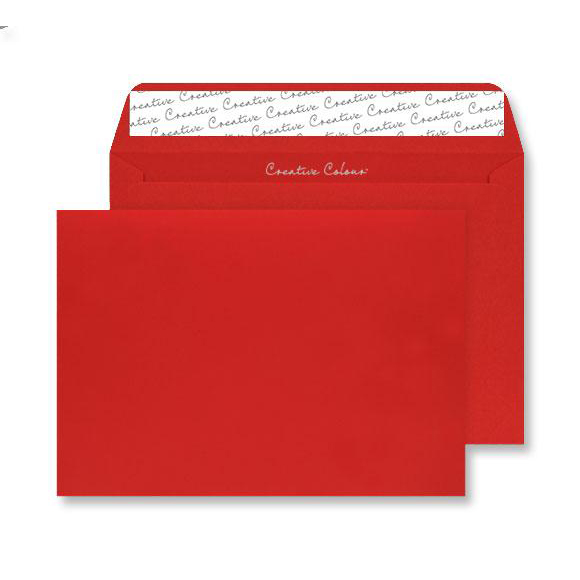 Creative Colour Pillar Box Red P&S Wallet C4 229x324mm Ref 406 Pack 250 *10 Day Leadtime*