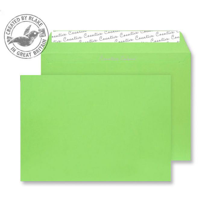 Creative Colour Lime Green Peel and Seal Wallet C4 229x324mm Ref 407 Pack 250 *10 Day Leadtime*