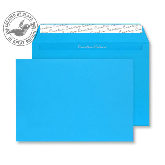 Creative Colour Caribbean Blue P&S Wallet C4 229x324mm Ref 410 [Pack 250] 10 Day Leadtime