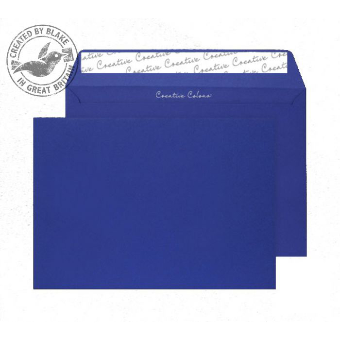 Creative Colour Victory Blue Peel and Seal Wallet C4 229x324mm Ref 443 [Pack 250] 10 Day Leadtime
