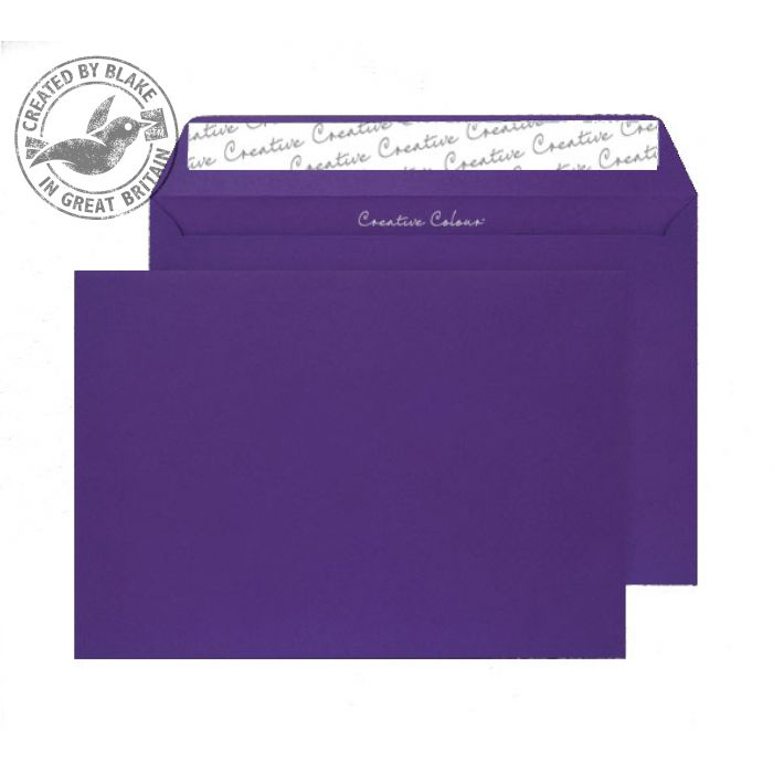 Creative Colour Blackcurrant Peel and Seal Wallet C4 229x324mm Ref 447 [Pack 250] *10 Day Leadtime*