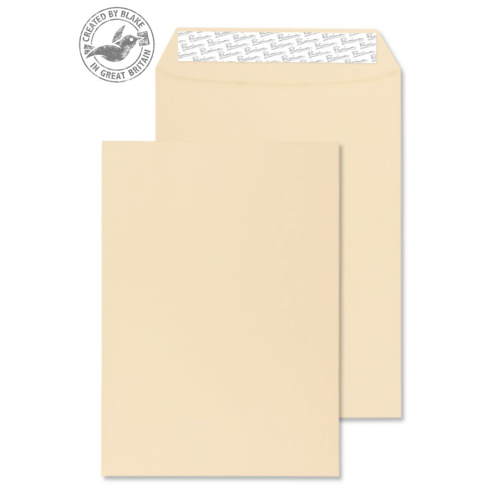 Blake Premium Business Gusset P&S Cream Wove C4 324x229x25 140gsm Ref 9400 Pk 125 10 Day Leadtime