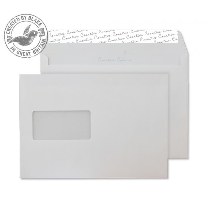Creative Colour Wallet P&S Window Soft Ivory 120gsm C5 162x229mm Ref 352W Pk 500 *10 Day Leadtime*