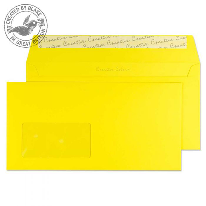 Creative Colour Wallet P&S Window Banana Yellow 120gsm DL+ 114x229 Ref 203W Pk500 *10 Day Leadtime*