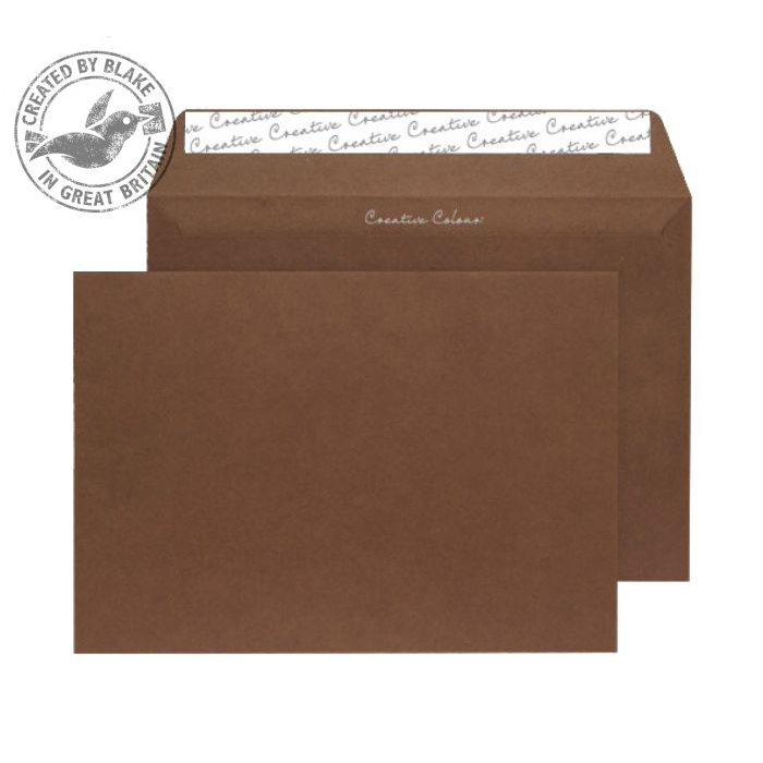 Creative Colour Milk Chocolate P&S Wallet C5 162x229mm Ref 323 [Pack 500] *10 Day Leadtime*