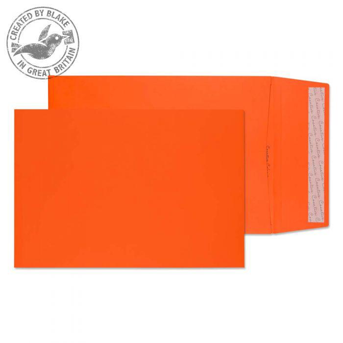Creative Colour Gusset Pocket P&S Pumpkin Orange C4 324x229x25mm Ref 9050 Pk 125 10 Day Leadtime
