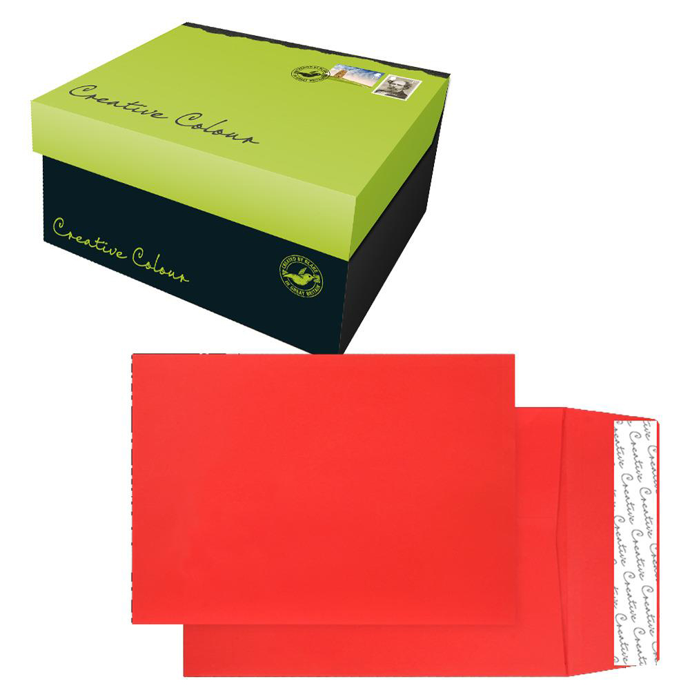 Creative Colour Pillar Box Red P&S Gusset C4 324x229x25mm Ref 9060 Pack 125 *10 Day Leadtime*