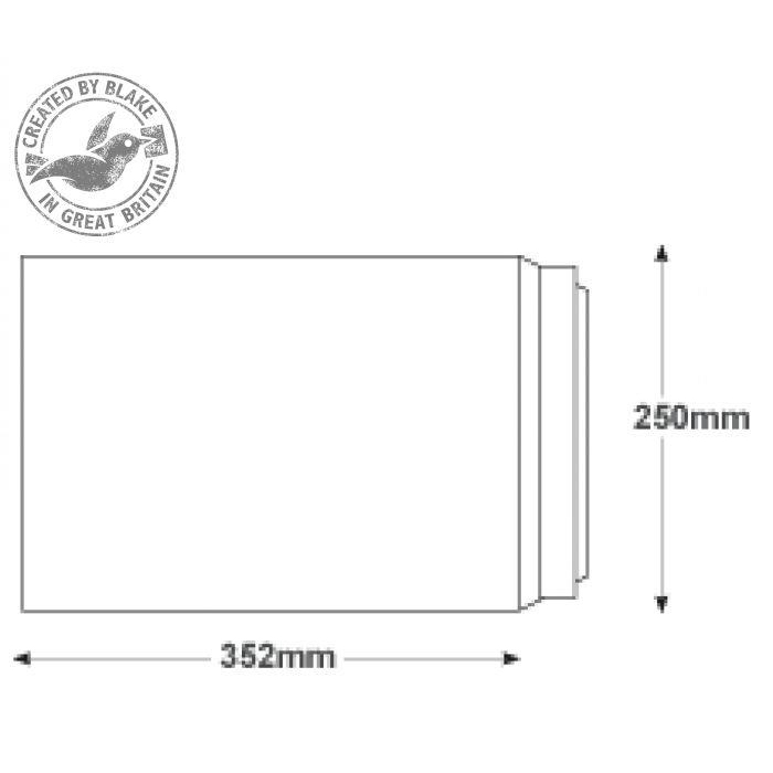 Blake Premium Secure Pocket P&S White B4 352x250mm 125gsm Ref TR8990 [Pack 125] *10 Day Leadtime*