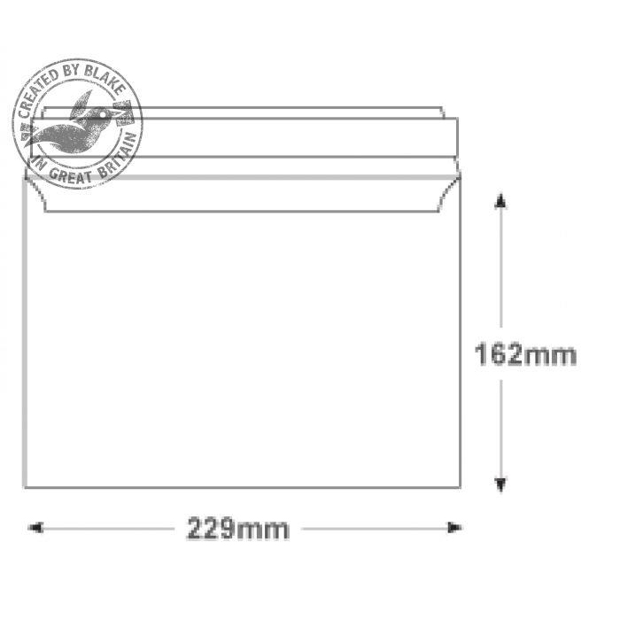 Blake Premium Secure Wallet P&S White C5 162x229mm 125gsm Ref TR67701 Pack 250 *10 Day Leadtime*