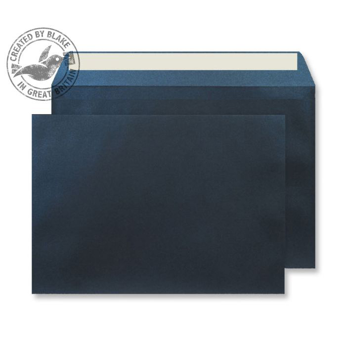 Creative Shine Pearlescent Wallet P&S Midnight Blue 120gsm C5 Ref PL333 Pk250 10 Day Leadtime