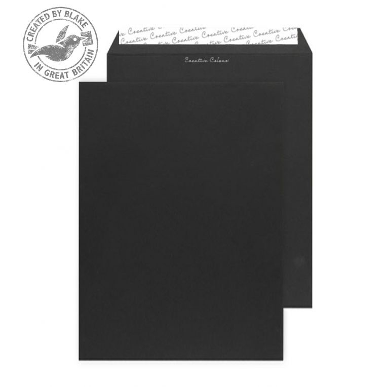 Creative Colour Jet Black P&S Gusset C4 324x229x25mm Ref 9140 Pack 125 *10 Day Leadtime*
