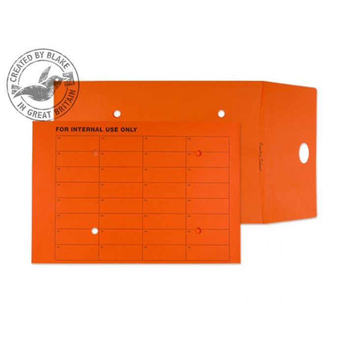 Purely Everyday Internal Mail Resealable Pumpkin Orange C4 25mm Ref 9003RES Pk125 *10 Day Leadtime*