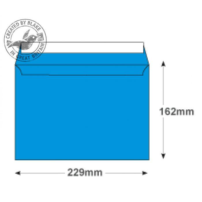 Creative Colour Caribbean Blue P&S Wallet C5 162x229mm Ref 310 [Pack 500] 10 Day Leadtime