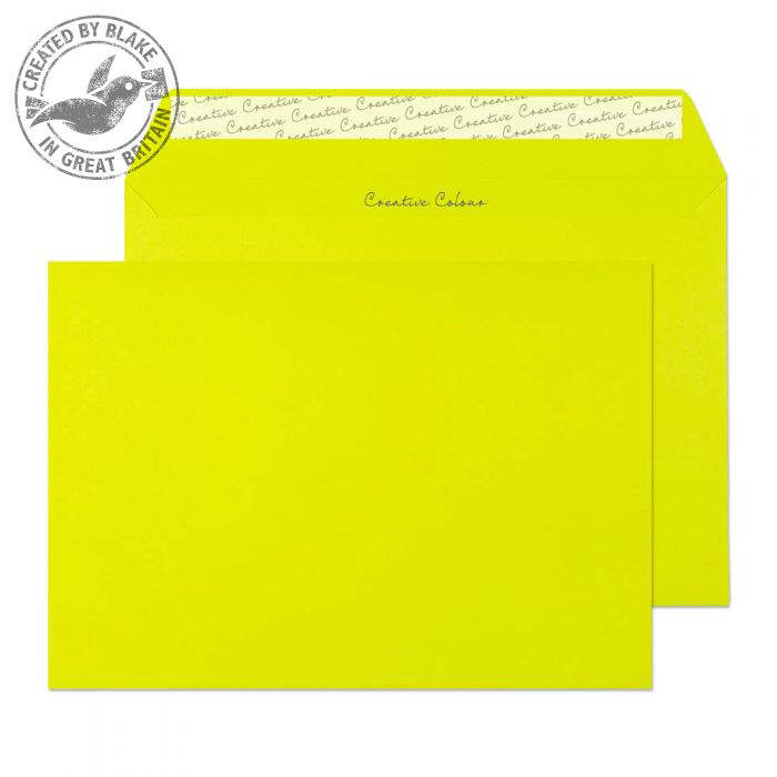 Creative Colour Acid Green Peel and Seal Wallet C5 162x229mm Ref 341 [Pack 500] 10 Day Leadtime