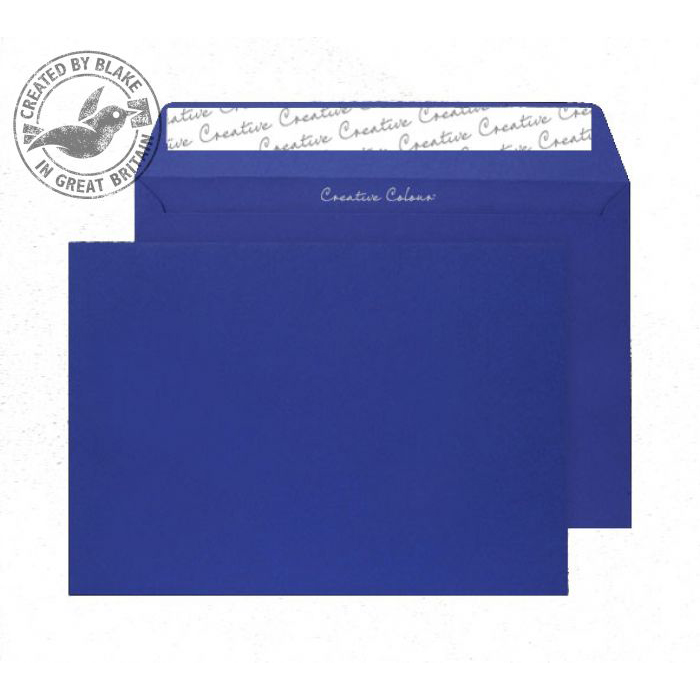 Creative Colour Victory Blue Peel and Seal Wallet C5 162x229mm Ref 343 [Pack 500] *10 Day Leadtime*