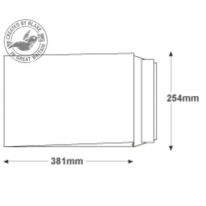 Blake Premium Secure Gusset P&S White 381x254x30mm 125gsm Ref TR13301 Pack 100 *10 Day Leadtime*